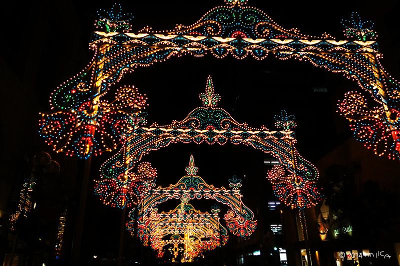 ガレリア「光の回廊」② /神戸ルミナリエ2014年