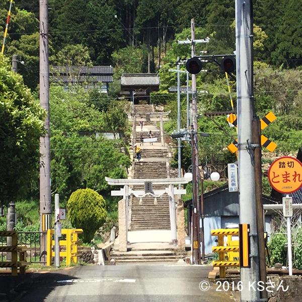 竹田城跡に登る道(大阪府KSさん)