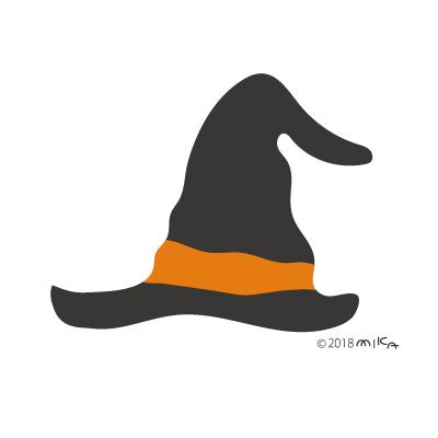 魔女の帽子(黒×オレンジ)