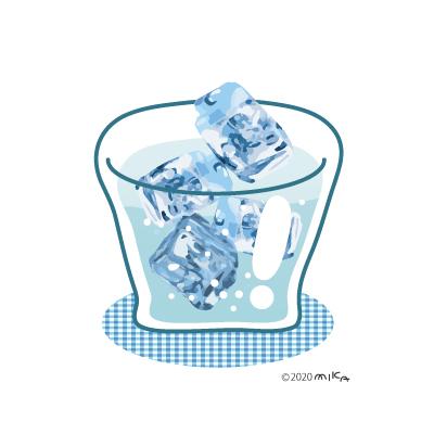 氷水のイラスト
