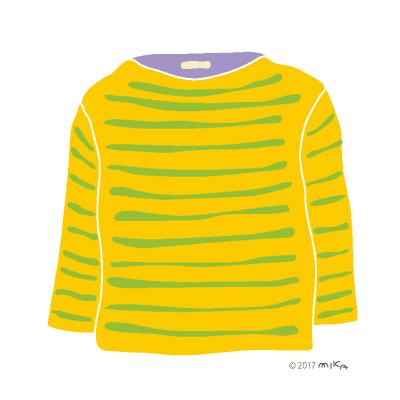 黄色×黄緑のロングTシャツ