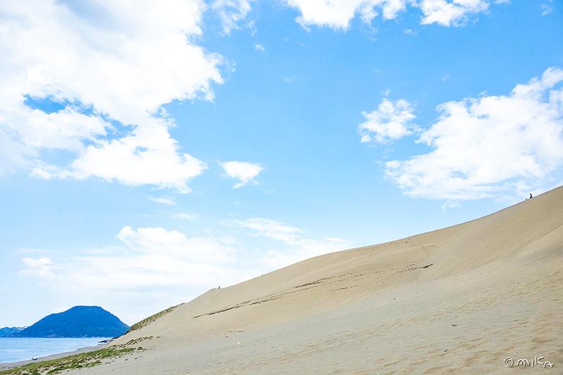 鳥取砂丘と海士島(あもうじま)
