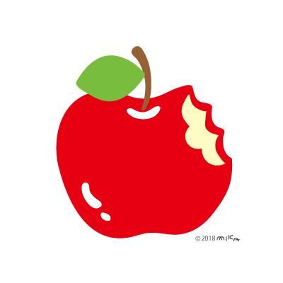 丸ごとかじったリンゴ