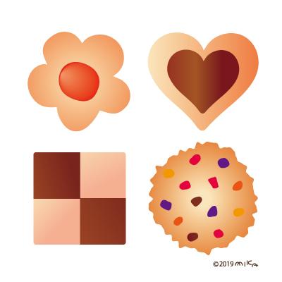 クッキー4つ