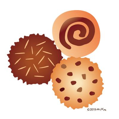 クッキー3つ