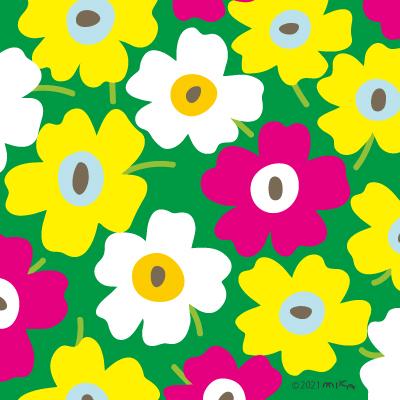 北欧風花のパターン⑤