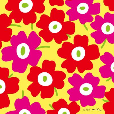 北欧風花のパターン④