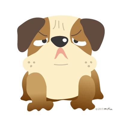 ブルドックの番犬(ちょっと怖い顔)