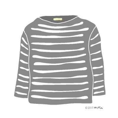 グレー×白のロングTシャツ