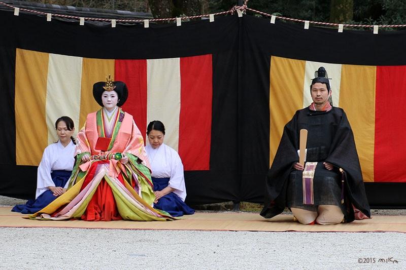 おだいりさまとおひなさま(2015年下鴨神社)