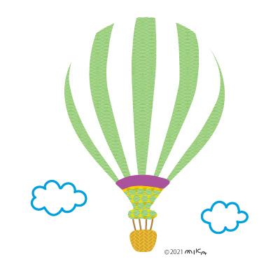 気球(黄緑)
