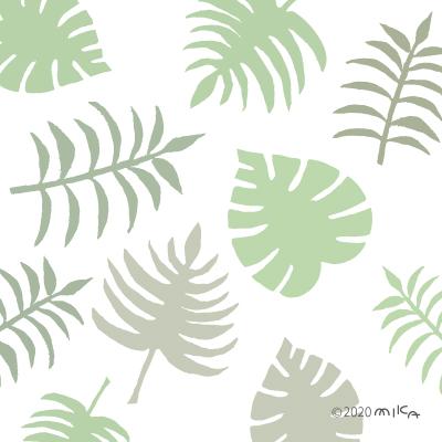 ハワイ風の葉(パターン)