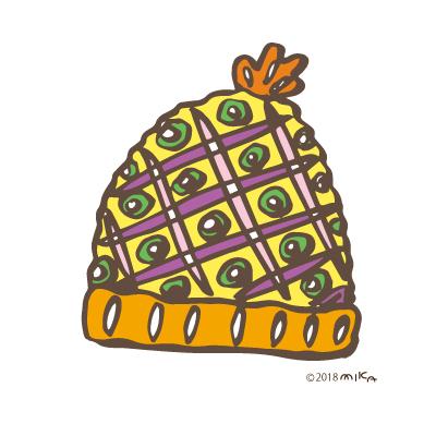ニット帽(きいろ)