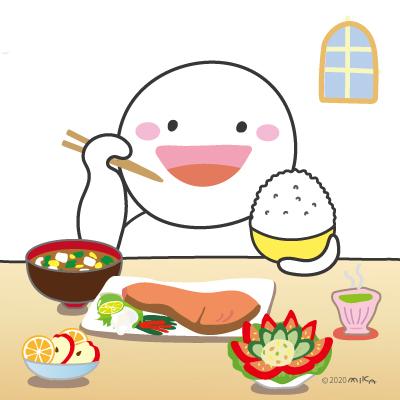 おいしく食べて(栄養満点)