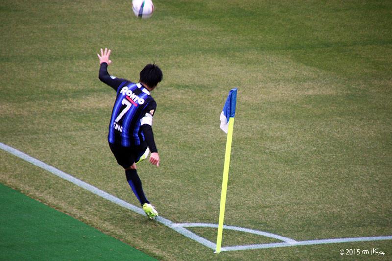 遠藤保仁①(ガンバ大阪)コーナーキック