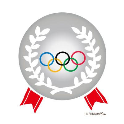 オリンピックの銀メダル
