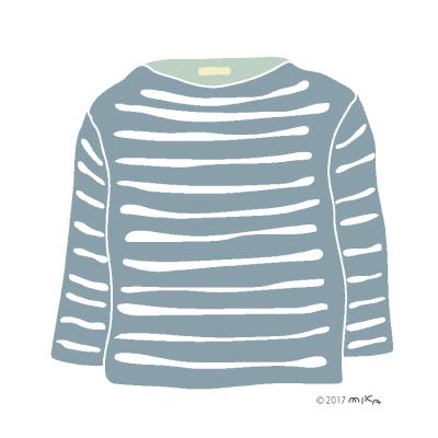 青系グレーのロングTシャツ