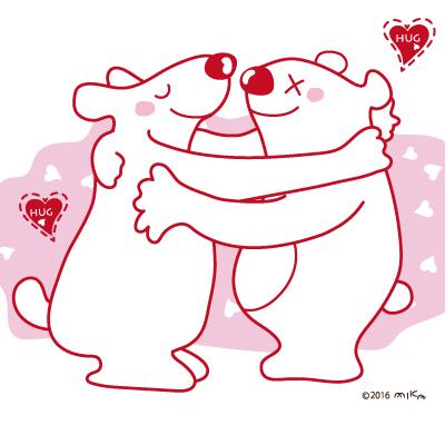 バレンタインのしろくま(正方形)