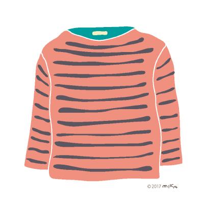 ピンク×グレーのロングTシャツ