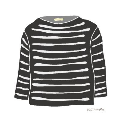黒×白のロングTシャツ