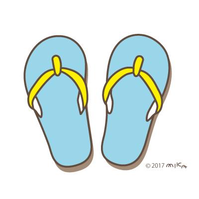 ビーチサンダル(青×黄色)