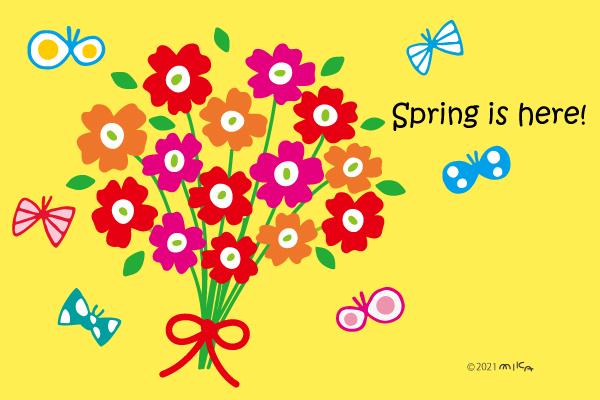 花とチョウ(北欧風)