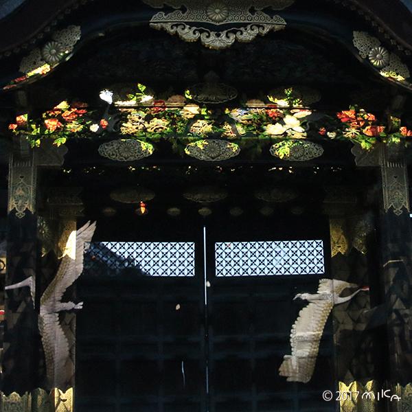 つる(唐門のプロジェクションマッピング/2017)
