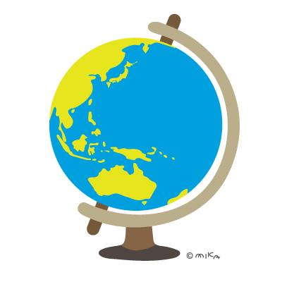 地球儀(日本・オセアニアなど)