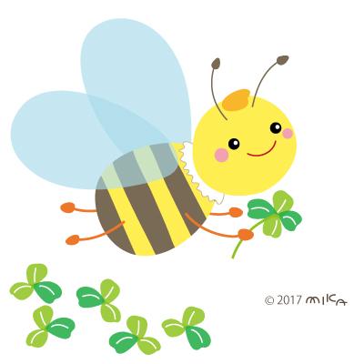 ミツバチとクローバー