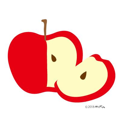 りんご四分の一