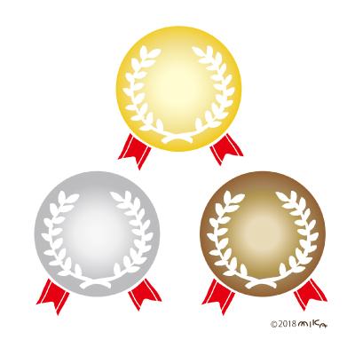 金銀銅メダル