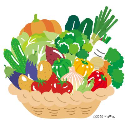 野菜いっぱいのかご