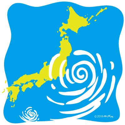 日本列島・台風接近