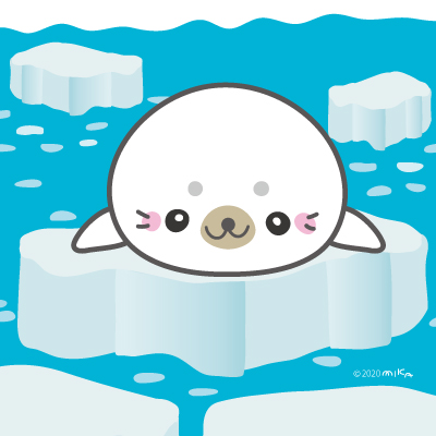 氷の上のあざらし(正面)