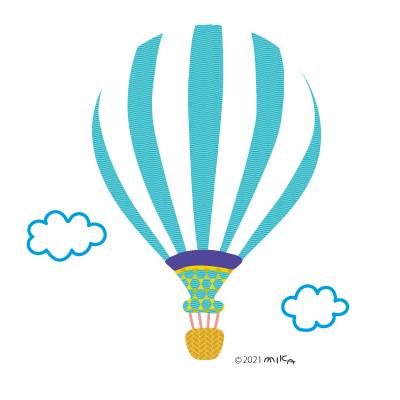 気球(水色)