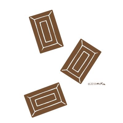 チョコレートのピース