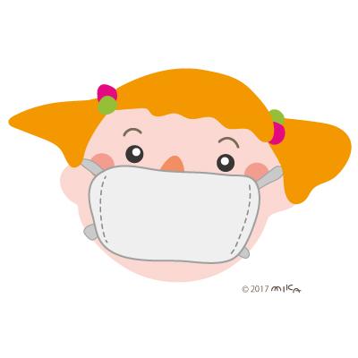 マスクをする女の子