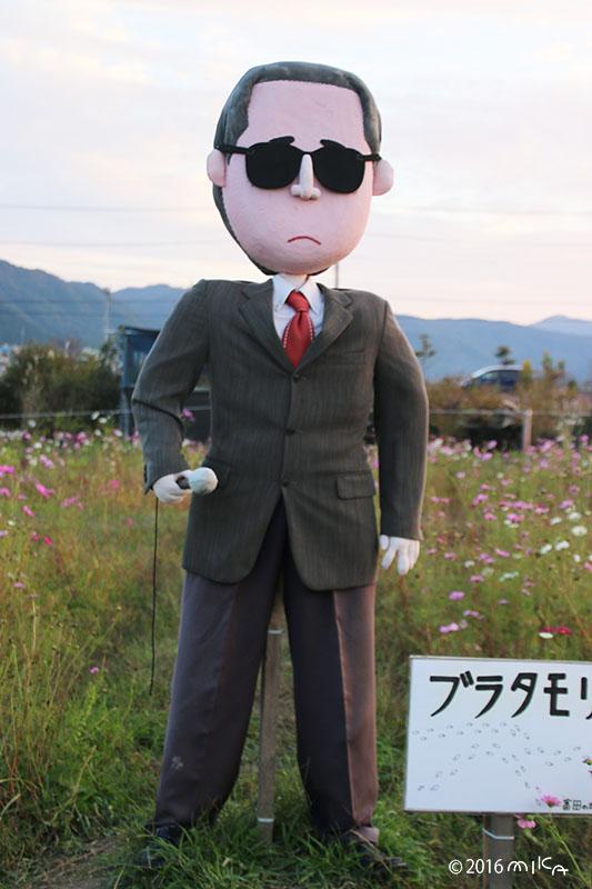 ブラタモリのかかし(亀岡夢コスモス園かかしコンテスト2016年)