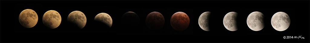皆既月食②(2014年10月8日より)