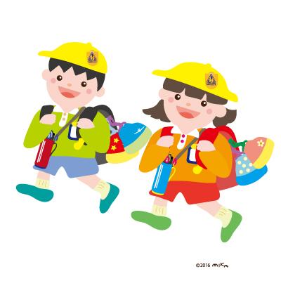 通学(男の子と女の子)