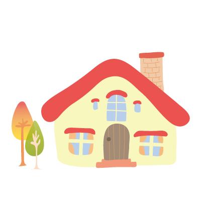 赤い屋根のおうち(秋)