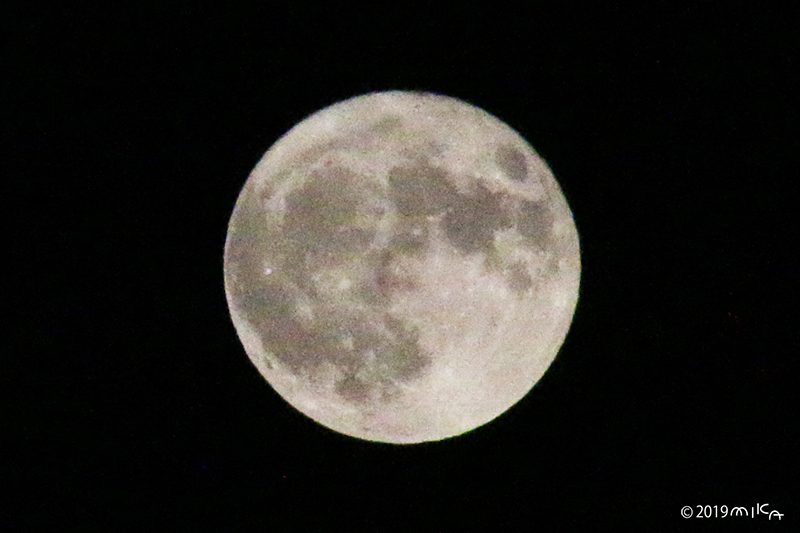 満月(2019年9月14日の月)