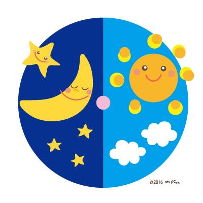 春分の日(太陽と月)