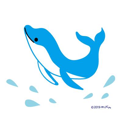 イルカのジャンプ(1頭)
