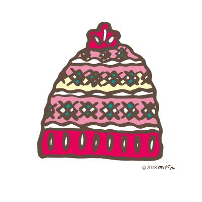 ニット帽(ピンク)