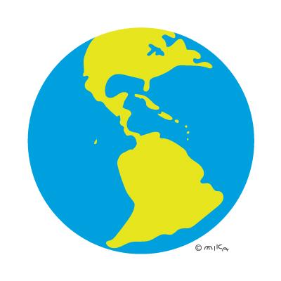 地球のイラスト(南北アメリカなど)