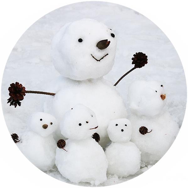 雪だるまづくり