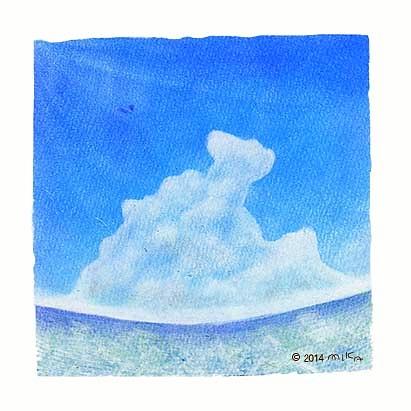 海に入道雲