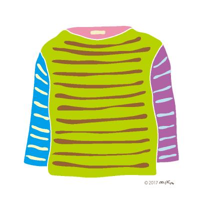 カラフルのロングTシャツ