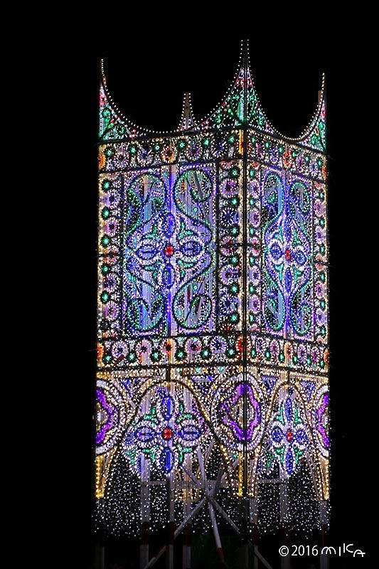 スッパリエーラ「光と音の大パノラマ」④(東遊園地・南噴水広場)/神戸ルミナリエ2016年